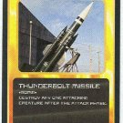 Doctor Who CCG Thunderbolt Missile Uncommon Game Card