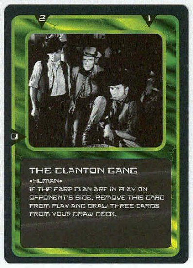 Doctor Who CCG The Clanton Gang Uncommon Game Card