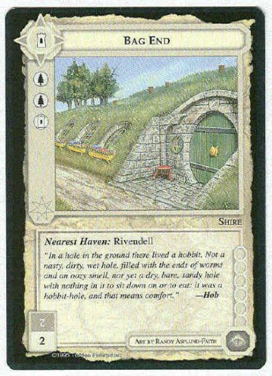 Middle Earth Bag End Wizards Limited Fixed Game Card