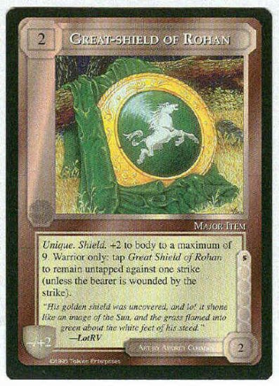 Middle Earth Great-shield Of Rohan Uncommon Game Card