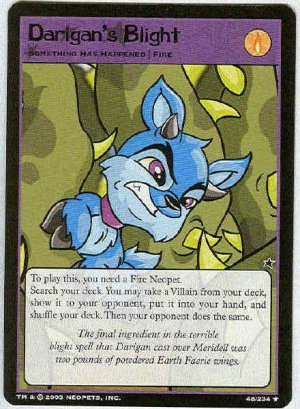 Neopets CCG Base Set #48 Darigan's Blight Rare Game Card
