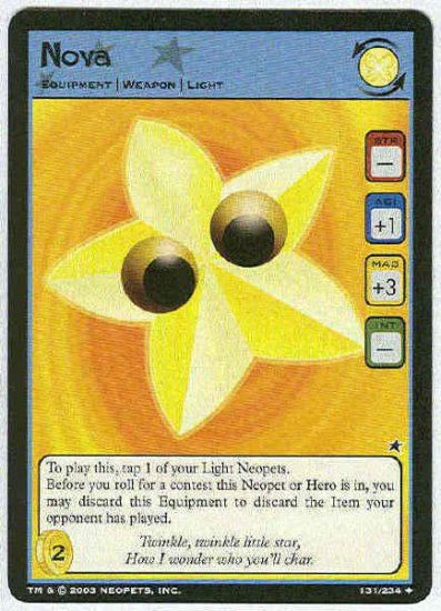 Neopets CCG Base Set #131 Nova Uncommon Game Card