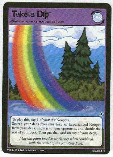 Neopets CCG Base Set #147 Take A Dip Uncommon Card