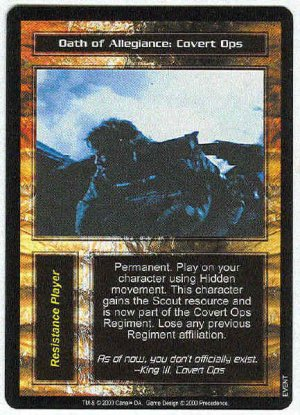 Terminator CCG Oath Of Allegiance Covert Ops Uncommon Card
