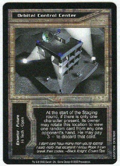 Terminator CCG Orbital Control Center Uncommon Game Card