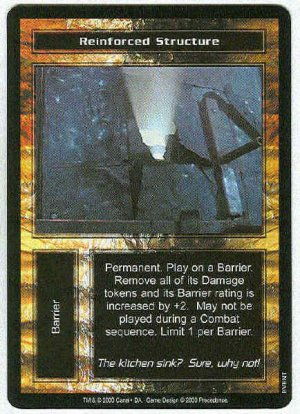 Terminator CCG Reinforced Structure Uncommon Game Card