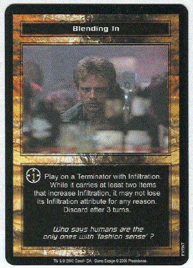 Terminator CCG Blending In Uncommon Game Card