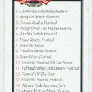 Doral 2003 Card Celebrate Great American Festivals List Card