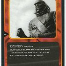 Doctor Who CCG Ogron Black Border Game Trading Card