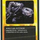 Doctor Who CCG Raston Attack Black Border Game Card