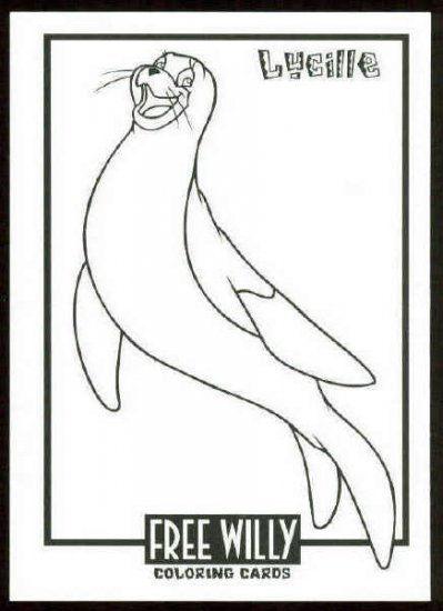 Free Willy Coloring Card #CC4 Lucille