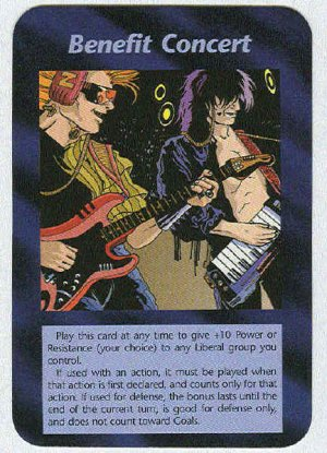 Illuminati Benefit Concert New World Order Game Trading Card