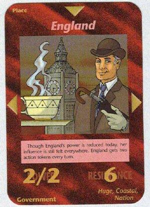 Illuminati England New World Order Game Trading Card