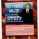 Illuminati Madison Avenue New World Order Game Card