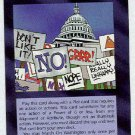 Illuminati March On Washington New World Order Game Card