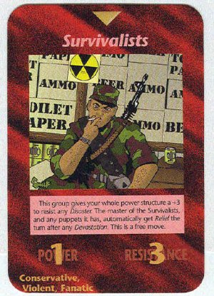 Illuminati Survivalists New World Order Game Trading Card