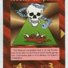 Illuminati Tobacco Companies New World Order Game Card