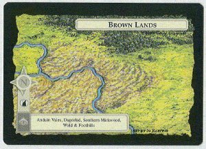 Middle Earth Brown Lands Wizards Limited Game Card