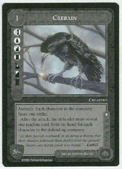 Middle Earth Crebain Wizards Limited Black Border Game Card
