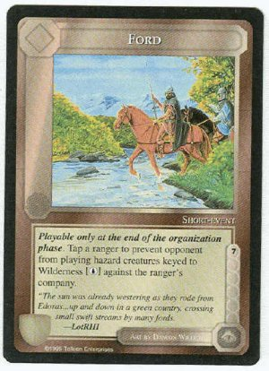 Middle Earth Ford Wizards Limited Black Border Game Card