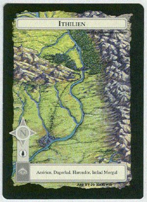 Middle Earth Ithilien Wizards Limited Black Border Game Card