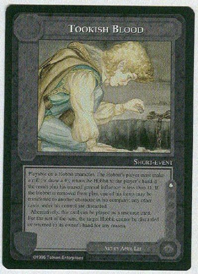 Middle Earth Tookish Blood Wizards Limited Game Card