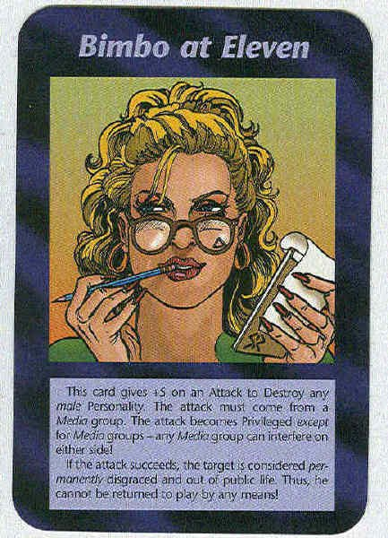 Illuminati Bimbo At Eleven New World Order Game Card