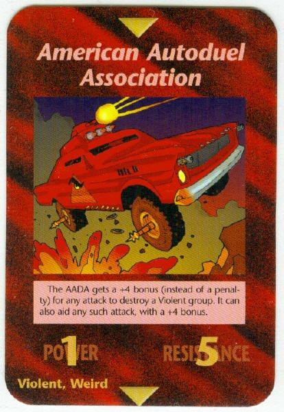 Illuminati American Autoduel Assocation NWO Game Card