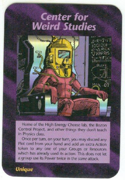 Illuminati Center For Weird Studies NWO Game Trading Card