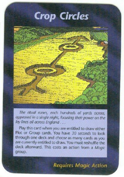 Illuminati Crop Circles New World Order Game Trading Card