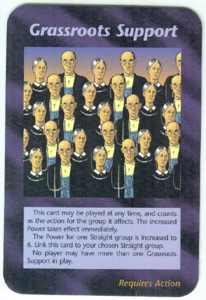 Illuminati Grassroots Support New World Order Game Card