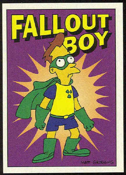 Simpsons 1993 Radioactive Man #R1 Fallout Boy Chase Card