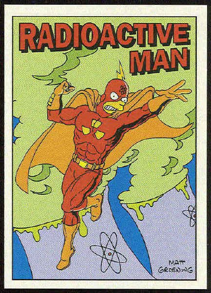Simpsons 1993 Radioactive Man #R3 Chase Trading Card