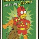 Simpsons 1993 Radioactive Man #R5 Dog Glowy Chase Card