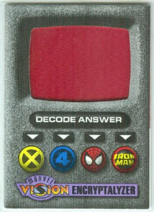 Marvel Vision 1996 Encryptalyzer Decoder Card