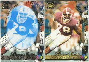 1996 Pacific Bruce Smith #13 Gold Foil Cel and Litho Cards