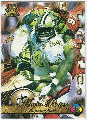 1996 Pacific Mario Bates #64 Litho Football Card
