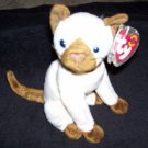 TY Beanie Baby Siam The Siamese Cat Born October 19, 2000
