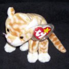 Amber The Cat TY Beanie Baby Born February 21, 1999