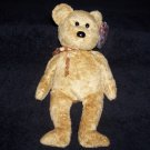 Cashew The Bear TY Beanie Baby Born April 22, 2000