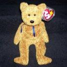 Fuzz The Bear TY Beanie Baby Born July 23, 1998 Retired
