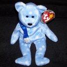 1999 Holiday Teddy The Bear TY Beanie Baby Born December 25, 1999
