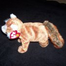 Rusty The Red Panda TY Beanie Baby Born February 18, 2002