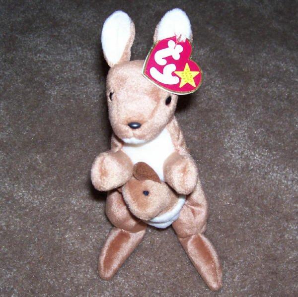 Pouch The Kangaroo TY Beanie Baby Born November 6, 1996