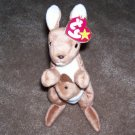 TY Beanie Baby Pouch The Kangaroo Born November 6, 1996