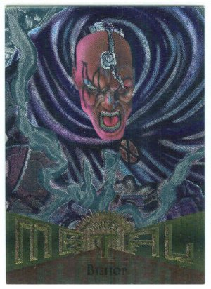 Marvel Metal #2 Bishop Silver Flasher Parallel Chase Card