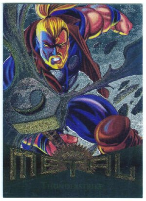 Marvel Metal #14 Thunderstrike Silver Flasher Parallel Card