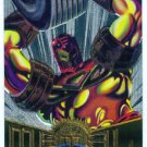 Marvel Metal #23 Iron Man Silver Flasher Parallel Chase Card