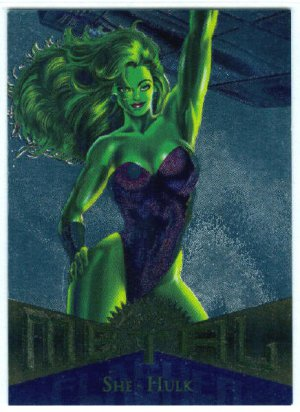 Marvel Metal #39 She-Hulk Silver Flasher Parallel Chase Card