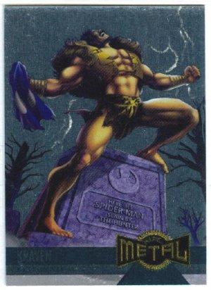 Marvel Metal #131 Kraven Alternate M Silver Flasher Card
